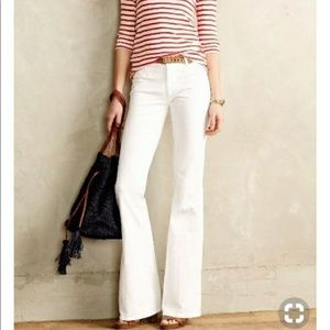 Banana Republic White Flare Leg Jeans Size 31
